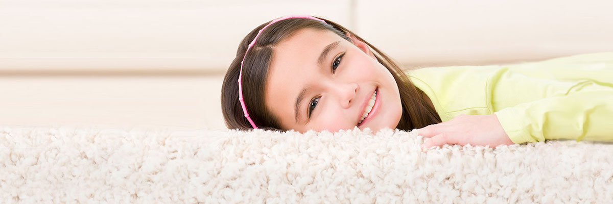 Girl on carpet